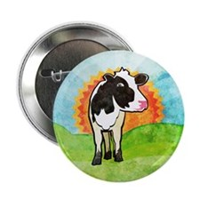 """Dairy Cow 2.25"""" Button"""