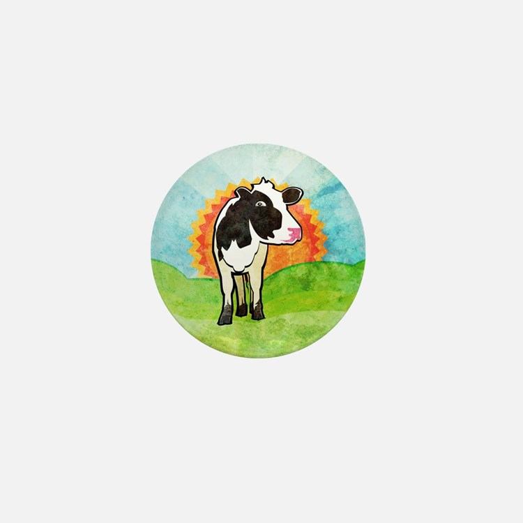 Dairy Cow Mini Button