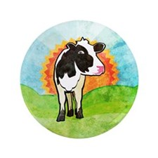 """Dairy Cow 3.5"""" Button"""