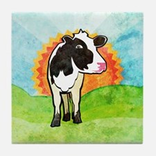 Dairy Cow Tile Coaster