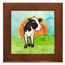Dairy Cow Framed Tile