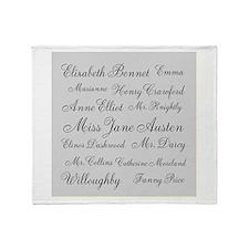 Jane Austen (silver) Throw Blanket