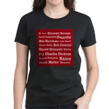 Dickens Characters (cranberry) Tee