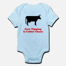 Cow Tipping Udder Chaos Infant Bodysuit