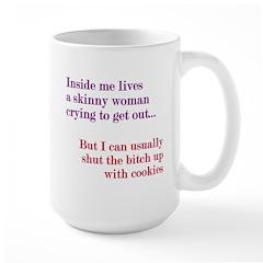 Inside Skinny Woman Crying Large Mug
