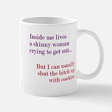 Inside Skinny Woman Crying Mug