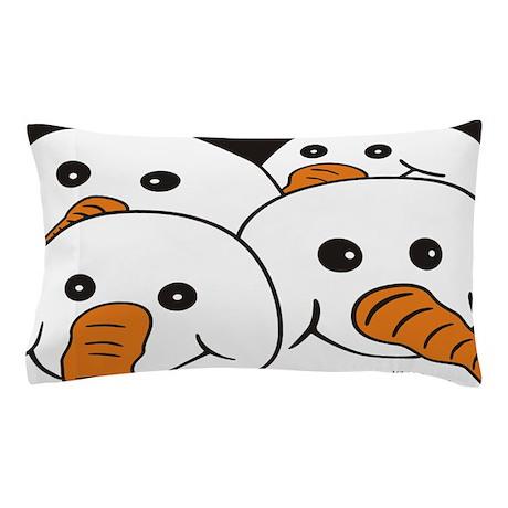 Gang of Four Snowmen Pillow Case