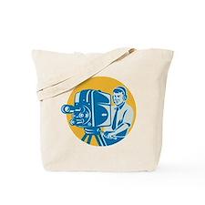 TV Cameraman retro Tote Bag