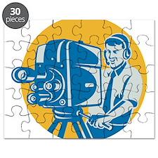 TV Cameraman retro Puzzle