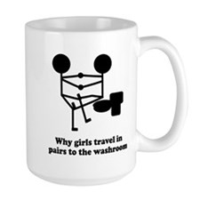 Girls Travel Pairs To Bathroo Mug