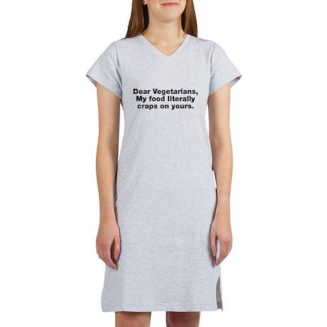 Dear Vegetarians Women's Nightshirt