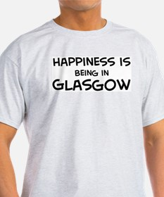 Happiness is Glasgow Ash Grey T-Shirt