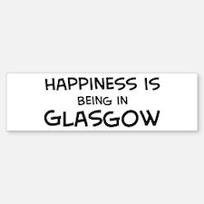 Happiness is Glasgow Bumper Bumper Bumper Sticker