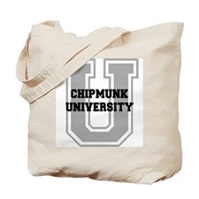 Chipmunk UNIVERSITY Tote Bag