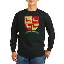 Corgi-Nation-Crest-Final Long Sleeve T-Shirt