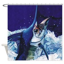 Manny Marlin Shower Curtain