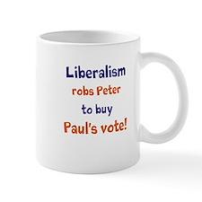 Liberalism Robs Peter Mug