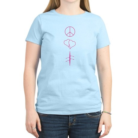 Peace, Love, and Rowing Women's Light T-Shirt