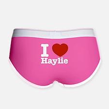 I love Haylie Women's Boy Brief