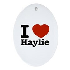 I love Haylie Ornament (Oval)