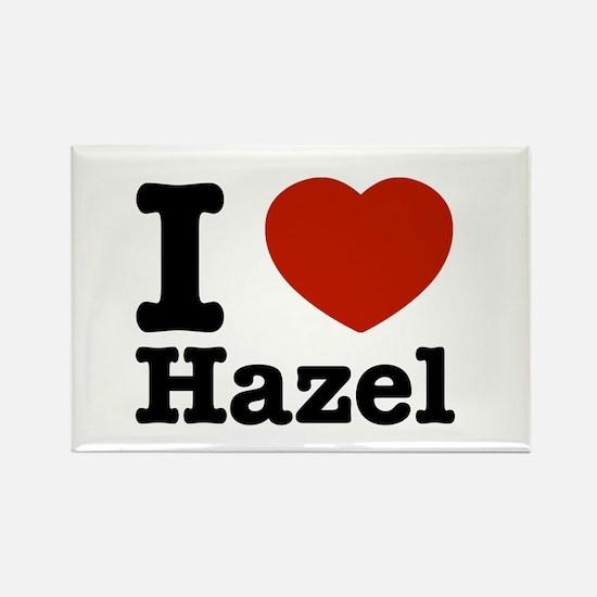 I love Hazel Rectangle Magnet
