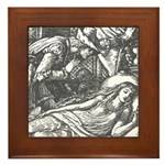 Crane's Sleeping Beauty Framed Tile