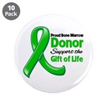 """Proud BMT Donor 3.5"""" Button (10 pack)"""
