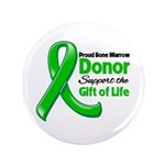 """Proud BMT Donor 3.5"""" Button (100 pack)"""