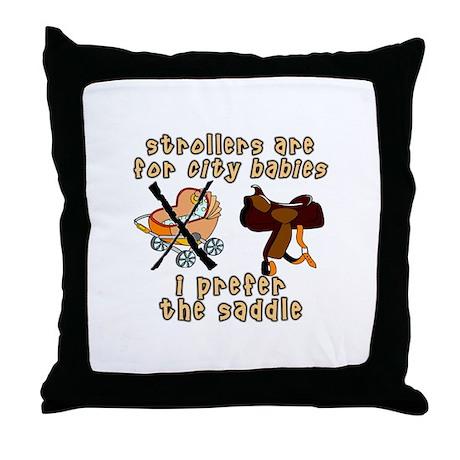 Prefer the Saddle design Throw Pillow