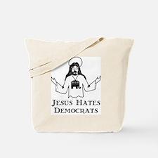 Jesus Hates Democrats Tote Bag