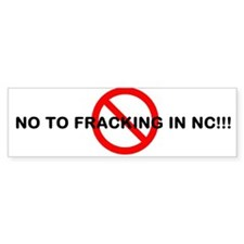 Unique No fracking Bumper Sticker