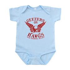Geezers on Hawgs Infant Bodysuit