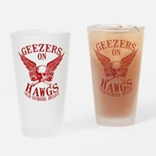 Geezers on Hawgs Drinking Glass