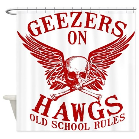 Geezers on Hawgs Shower Curtain