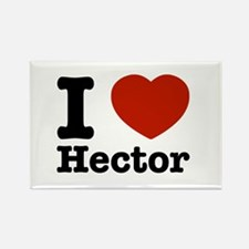 I love Hector Rectangle Magnet
