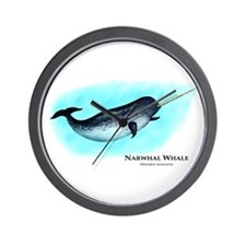 Narwhal Whale Wall Clock