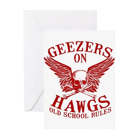 Geezers on Hawgs Greeting Card