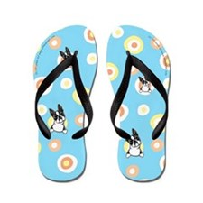 Boston Terrier Seeing Spots Flip Flops