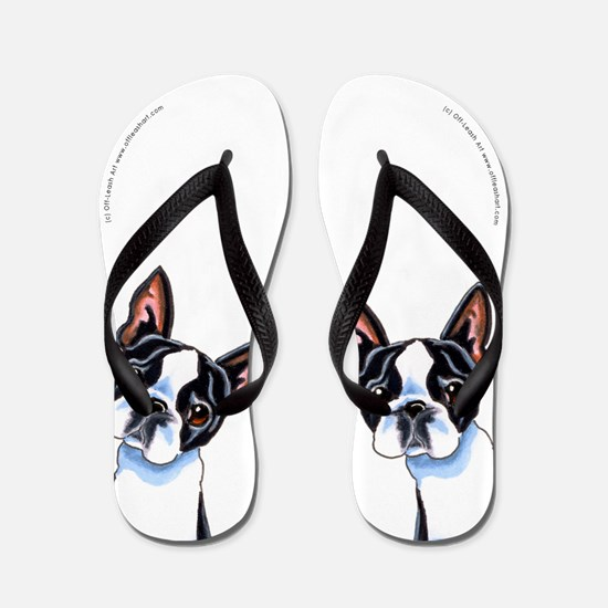 Boston Terrier Its All About Me Flip Flops