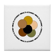 Multiethnic/ Multracial Pride Tile Coaster