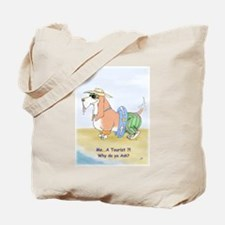 Cute Basset hound on beach Tote Bag