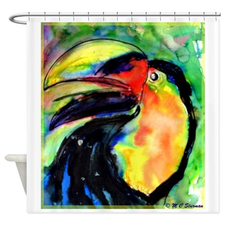 Toucan! Fun!Bright,Bird art! Shower Curtain