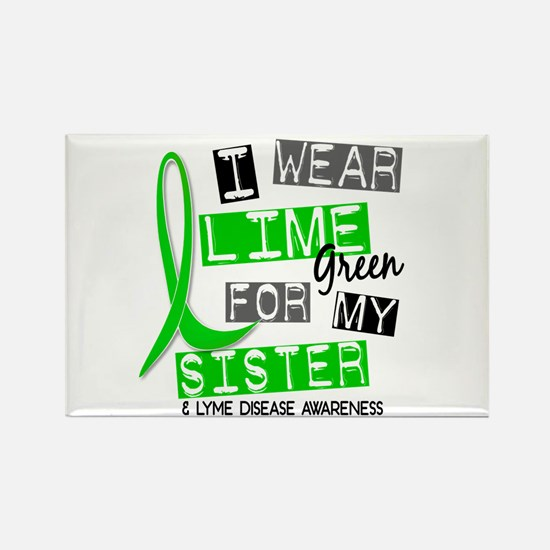 I Wear Lime 37 Lyme Disease Rectangle Magnet