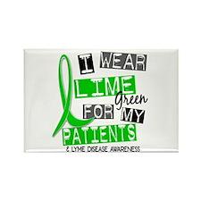 I Wear Lime 37 Lyme Disease Rectangle Magnet (100
