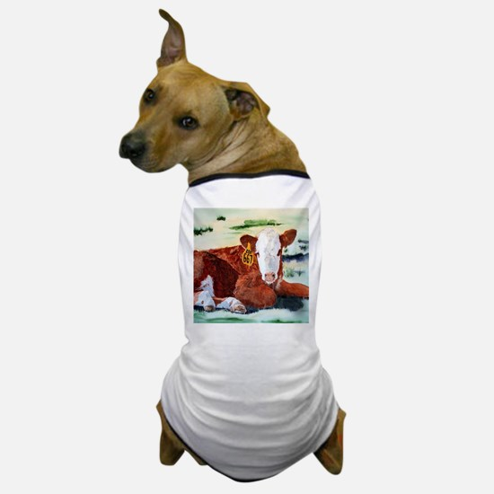 Hereford Calf Dog T-Shirt