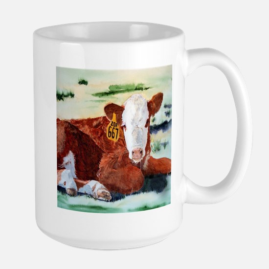 Hereford Calf Large Mug