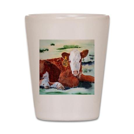 Hereford Calf Shot Glass