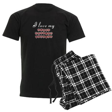 I love my Black Russian Terrier Men's Dark Pajamas
