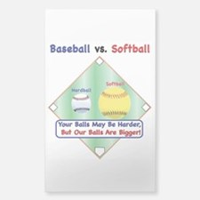 Baseball vs. Softball Decal