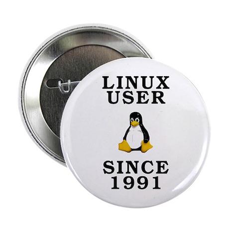 "Linux user since 1991 - 2.25"" Button"